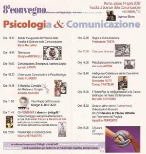 Programma 8° Convegno