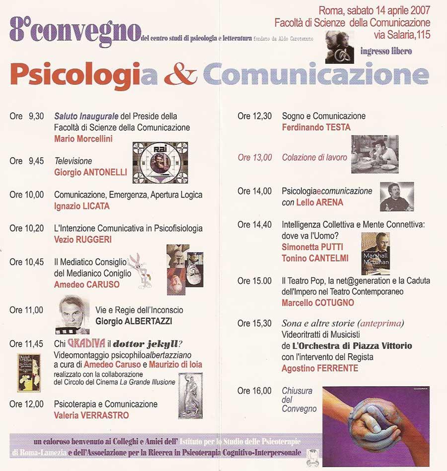 8° Convegno – 2007 – Psicologi(a) & Comunicazione