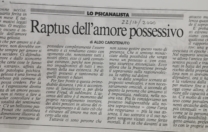 Raptus dell'amore possessivo, di A. Carotenuto