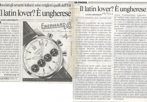 Il latin lover? È ungherese