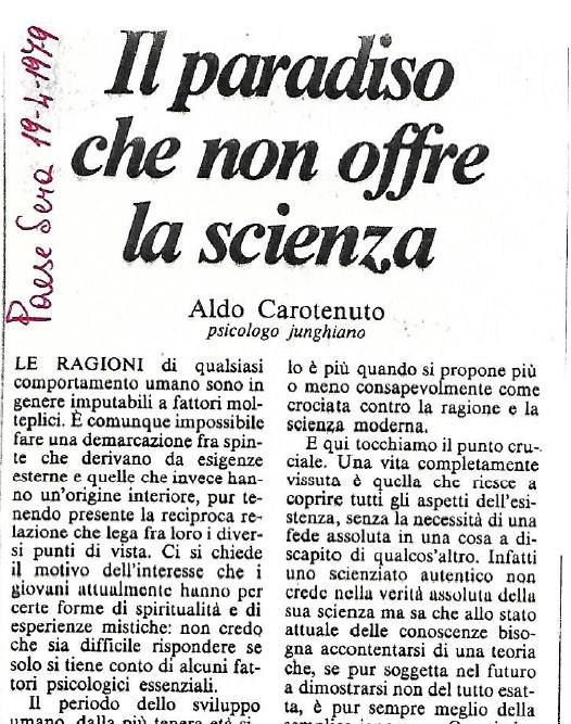 Il paradiso che non offre la scienza