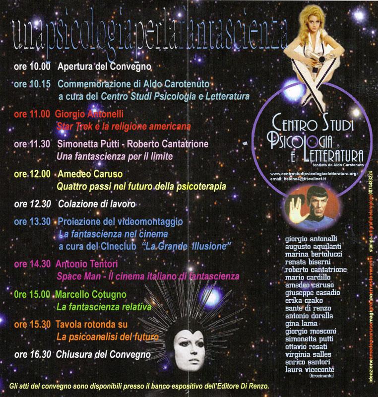 6° Convegno – 2005 – Una psicologia per la fantascienza